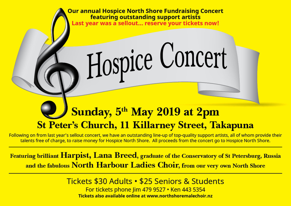North Shore Male Choir Hospice Fundraiser Concert